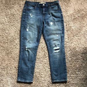 GAP NWOT Best Girlfriend Destructed Jeans Size 28